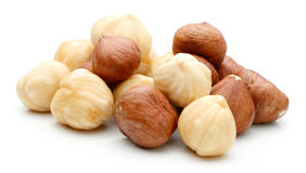 Heap of Hazelnut isolated Stock Photography