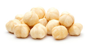 Heap of Hazelnut isolated Stock Images