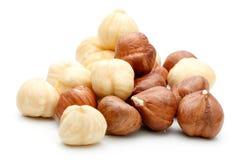 Heap of Hazelnut isolated Stock Images