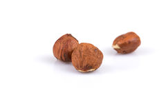 Heap of hazelnuts Stock Photos