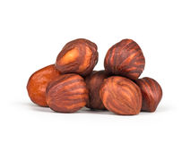 Heap of hazelnuts Stock Photos