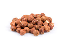 Heap of hazelnuts Stock Photography