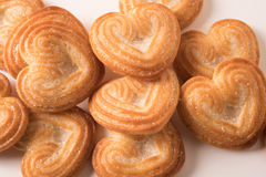 Heap of  heart shaped biscuit. Stock Images