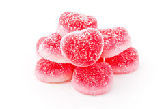 Heap of heart-shaped candies Royalty Free Stock Images