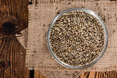 Heap of Hemp Seeds Royalty Free Stock Photo