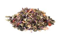 Heap of herbal tea. Dried flowers, berries and tea leaves Royalty Free Stock Image