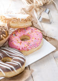 Heap of homemade Muffins and Donuts Royalty Free Stock Image