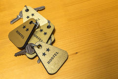 Heap of Hostel Room Keys Stock Image