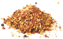 Heap of hot seasoning, macro shot, isolated Royalty Free Stock Photos