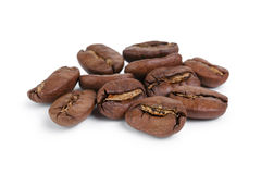 Heap of huge coffee beans Stock Photography
