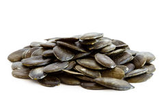 Heap of hulled pumpkin seeds. Heap of hulled pumpkin seeds Royalty Free Stock Images