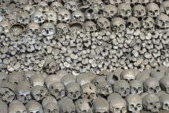 Heap of human bones. Royalty Free Stock Images