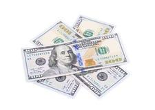 Heap of hundred dollar banknotes. Stock Image