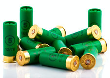 Heap of hunting cartridges for shotgun Royalty Free Stock Image