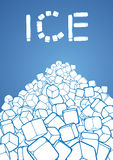 Heap of ice cubes. Illustration vector illustration
