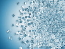 Heap of Ice Cubes Royalty Free Stock Photos