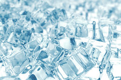 Heap of ice cubes. background of ice cubes with depth of field. 3d rendering Royalty Free Stock Image