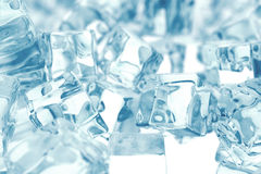 Heap of ice cubes. background of ice cubes with depth of field. 3d rendering Stock Image