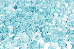 Heap of ice cubes. background of ice cubes with depth of field. 3d rendering Royalty Free Stock Photos
