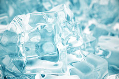 Heap of ice cubes. background of ice cubes with depth of field. 3d rendering Royalty Free Stock Photo