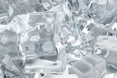 Heap of ice cubes. background of white ice cubes 3d rendering Stock Images