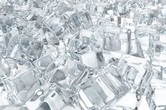 Heap of ice cubes. background of white ice cubes 3d rendering Royalty Free Stock Photo