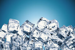 Heap of ice cubes with blank space Stock Image