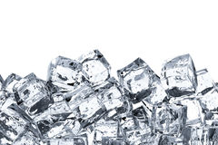 Heap of ice cubes with blank space Stock Photos