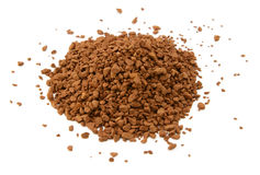 Heap of instant coffee granules Royalty Free Stock Images
