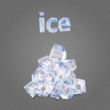 Heap of ise cubes Royalty Free Stock Photography