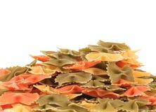 Heap of italian pasta farfalle. Stock Image