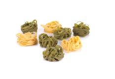 Heap of italian tagliatelle pasta. Stock Image
