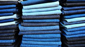 Heap of Jeans Royalty Free Stock Images