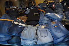 Heap of jeans Royalty Free Stock Photos