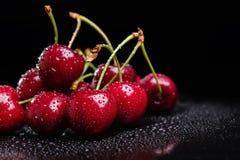 Heap of juicy wet cherries Stock Image