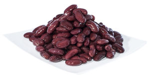 Heap of Kidney Beans isolated on white Royalty Free Stock Photos