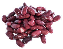 Heap of Kidney Beans  on white Stock Image