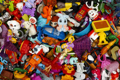 Heap of Kinder Surprise toys. Tambov, Russian Federation - March 25, 2016 Big heap of Kinder Surprise toys. Kinder Surprise manufactured by Italian company Royalty Free Stock Photos