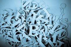 Heap of Latin Letters background Stock Photos