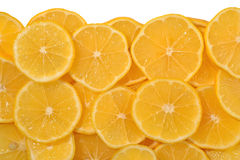 Heap of lemon slices on a white Royalty Free Stock Photo