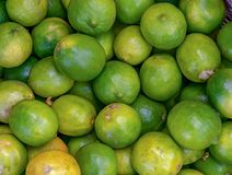 A heap of limes in a market stock photography