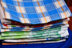 Heap of linen towels Royalty Free Stock Images