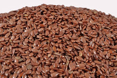 Heap of linseed on a white Royalty Free Stock Photography