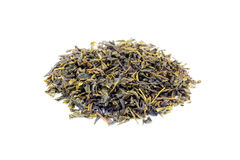 Heap of Loose green tea Earl Grey on white Royalty Free Stock Photography