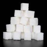 Heap lump sugar Stock Photos