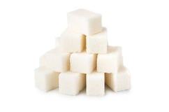 Heap of lumpy sugar Stock Photos