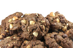 Heap of macadamia cookies Stock Photos