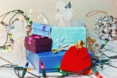 Christmas and New Year still life royalty free stock photo