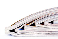 Heap of magazines. Lying on the table Stock Photo