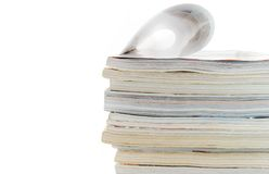 Heap of magazines Royalty Free Stock Images